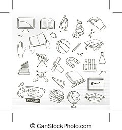 icone, studiare, educazione