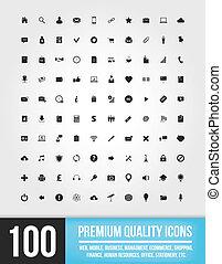 icone, web, 100