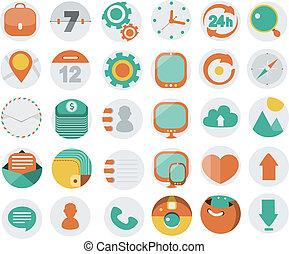 icone, web, desi, domanda, appartamento