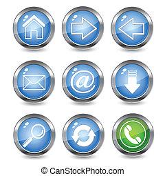 icone, web, lucido