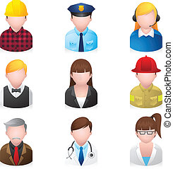 icone, web, persone, professionale, 2, -
