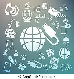 icone, web, retina, vettore