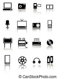 icone, web, tecnologia