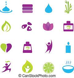 icone, zen, wellness, acqua