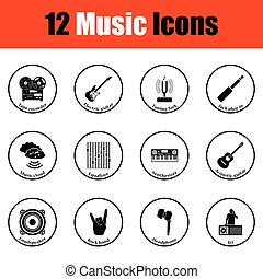 icons., musicale, set
