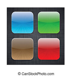 icons., sagoma, app, quadrato