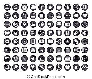 iconset, vettore, -, stile, affari