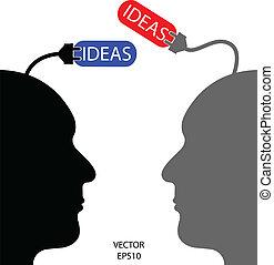 idea, affari, addebitare, uomo