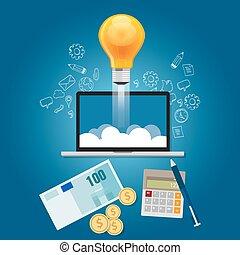 idee, finanza, finanziamento, lancio, ottenere, start-up, progetto, tuo