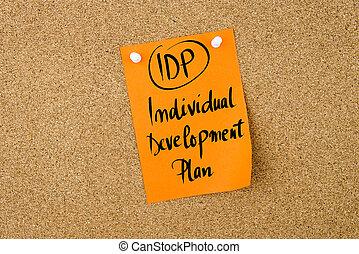 idp, acronimo, individuale, piano, sviluppo affari