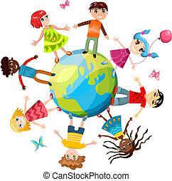 ih, bambini, mondo