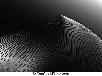 illuminato, forma, vettore, argento
