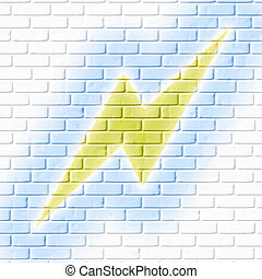 illuminazione, brickwall