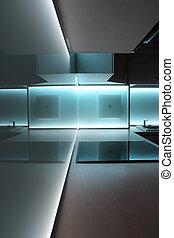 illuminazione, condotto, bianco, cucina