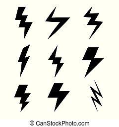 illuminazione spranga, icone
