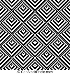 illusion., seamless, pattern., 3d, geometrico