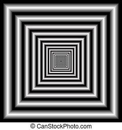 illusione ottica, tunnel.