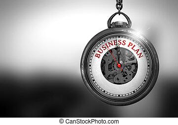 illustration., affari, face., orologio, piano, 3d