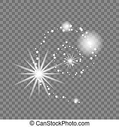 illustration., astratto, forma., vettore, modo, latteo, galassia