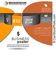 illustration., astratto, infographics, vettore, opuscolo, 3d