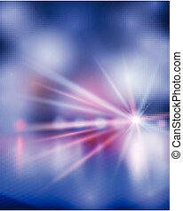 illustration., blue., mostra, vettore, luce
