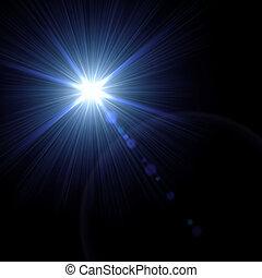 illustration., effect., luce, vettore, bagliore, speciale