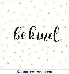 illustration., essere, kind., spazzola, iscrizione