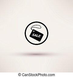 illustration., etichetta, isolato, vendita, vettore, icona