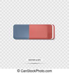 illustration., realistic., vettore, gomma, icon., 3d, icona