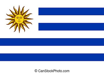 illustration., uruguay, flag., nazionale, vettore, montevideo