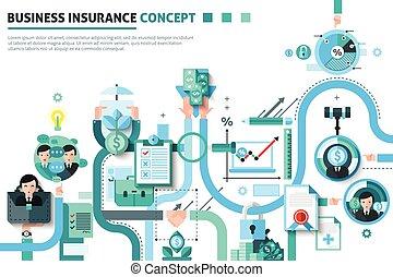 illustrazione affari, concetto, assicurazione