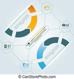 illustrazione affari, vettore, infographics, uggia, design., presentazione, tuo, minimo, 3d