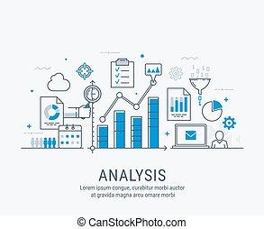 illustrazione, analisi, vettore