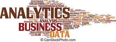 illustrazione, analytics, affari, analisi