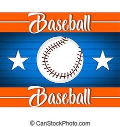 illustrazione, baseball, manifesto