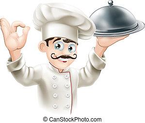 illustrazione, chef, buongustaio