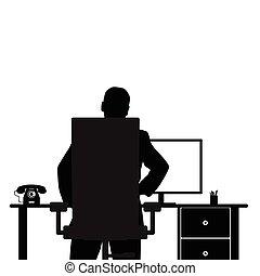 illustrazione computer, uomo
