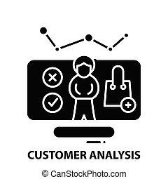 illustrazione, concetto, icona, colpi, analisi, vettore, nero, editable, segno, cliente