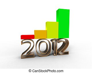 illustrazione, crescita economica, fondo, bianco, portare, 2012