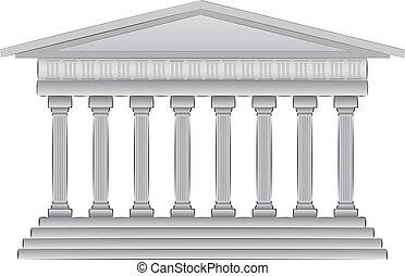 illustrazione, cupola, greco, vettore