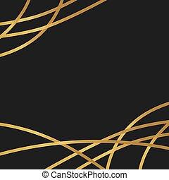 illustrazione, dorato, lusso, background-, vettore
