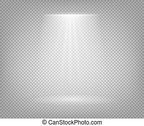 illustrazione, fondo, isolato, trave, riflettore, vettore, trasparente