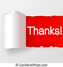 illustrazione, fondo., vettore, ringraziamento, bianco rosso, carte parati