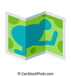 illustrazione, map., icona, turismo, travel., o, immagine