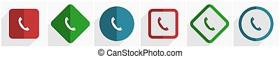 illustrazione, mobile, eps, opzioni, icona, 6, set, disegno, domande, webdesign, 10, telefono, appartamento, vettore