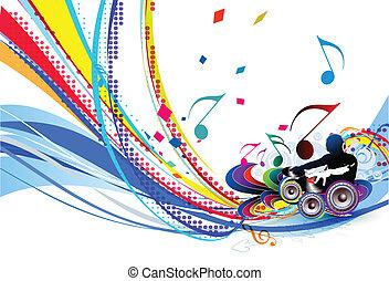 illustrazione, musica, fondo