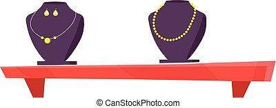 illustrazione, negozio, gioielleria