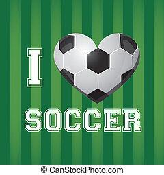 illustrazione, palla, calcio