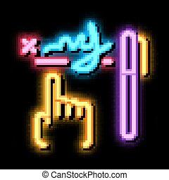 illustrazione, scrittura, neon, grafico, splendore, icona, analisi