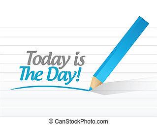 illustrazione, segno, disegno, messaggio, giorno, oggi